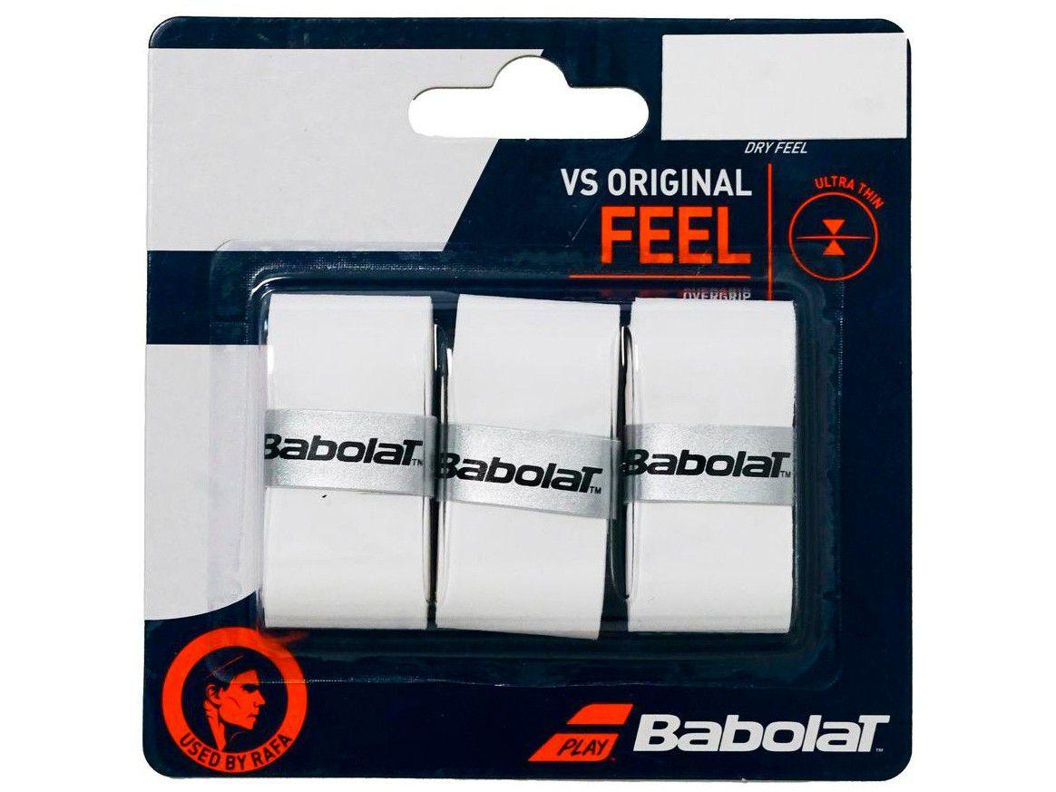 Overgrip Babolat VS Original Feel Branco - 3 Unidades