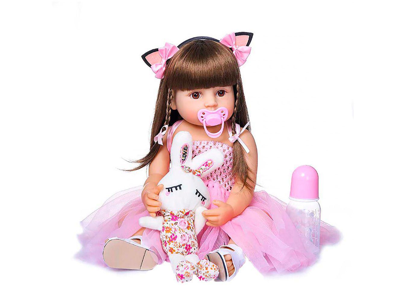 Bebê Reborn Princesa Laura Baby 45cm - com Acessórios