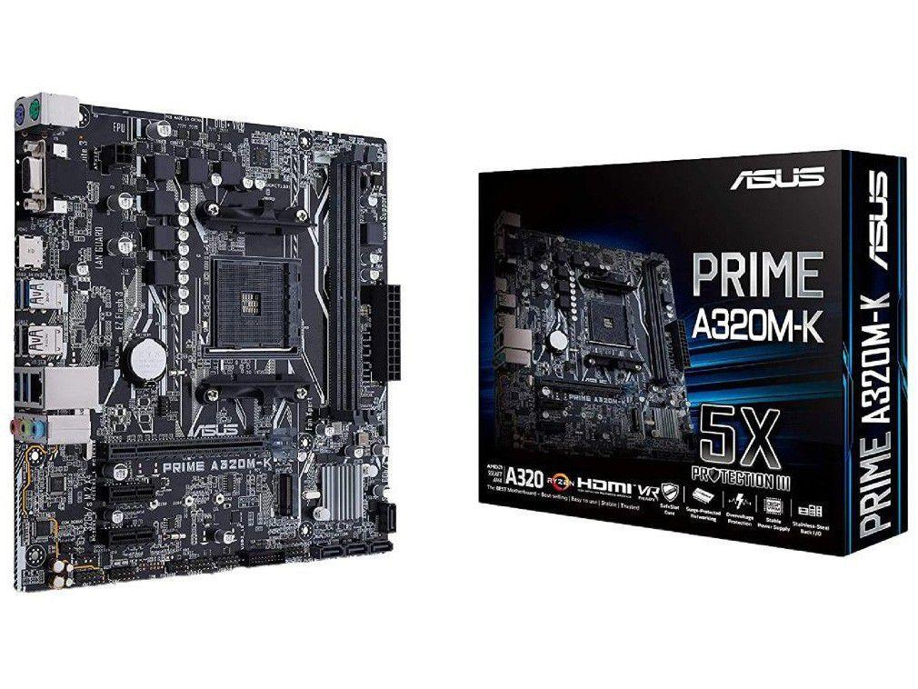 Placa Mãe Asus A320M-K/BR AMD AM4 DDR4 - Micro ATX