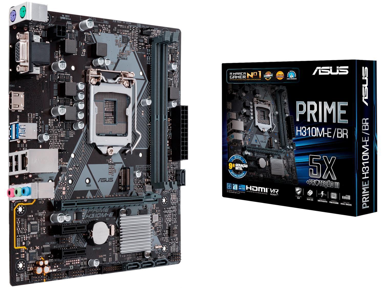 Placa Mãe Asus Prime H310M-E/BR Intel LGA 1151 - DDR4 Micro ATX