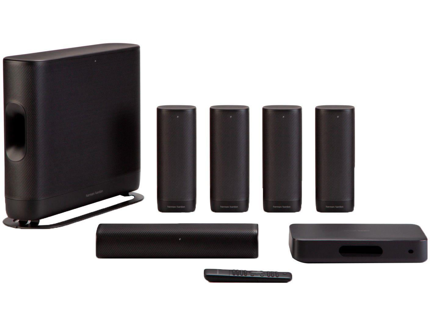 Soundbar Harman Kardon Surround com Subwoofer - Wireless Bluetooth 370W RMS 5.1 Canais