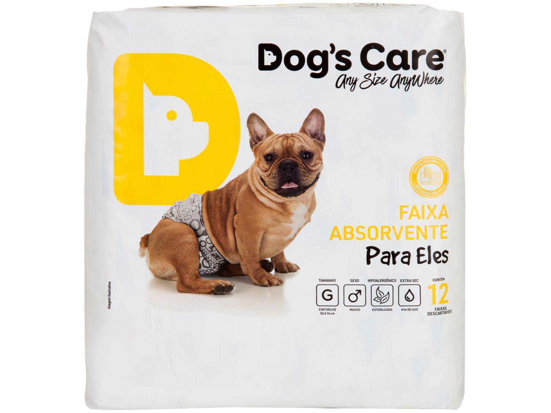 Fralda Descartável para Cachorro Macho G - Dogs Care Para Eles 12 Unidades