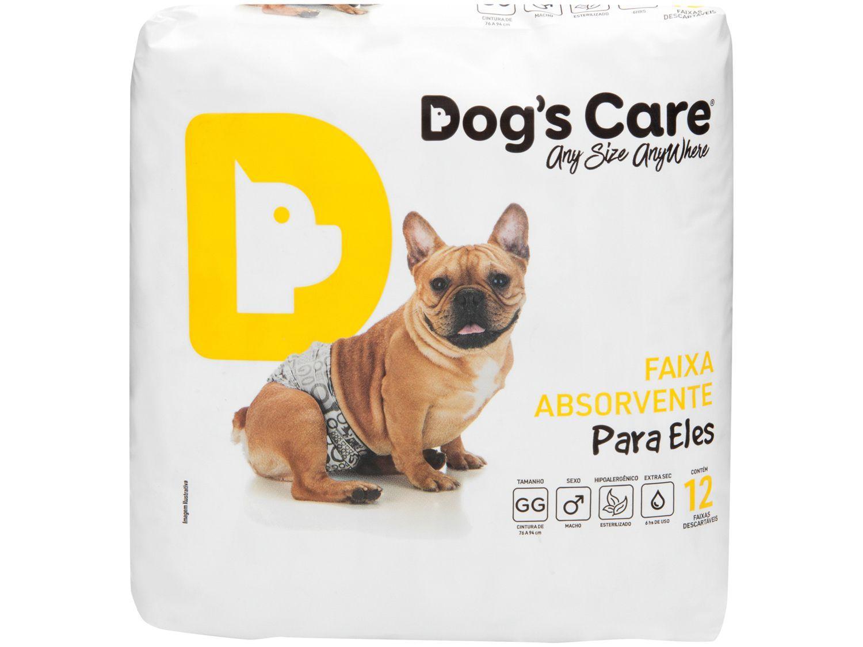 Fralda Descartável para Cachorro Macho GG - Dogs Care Para Eles 12 Unidades