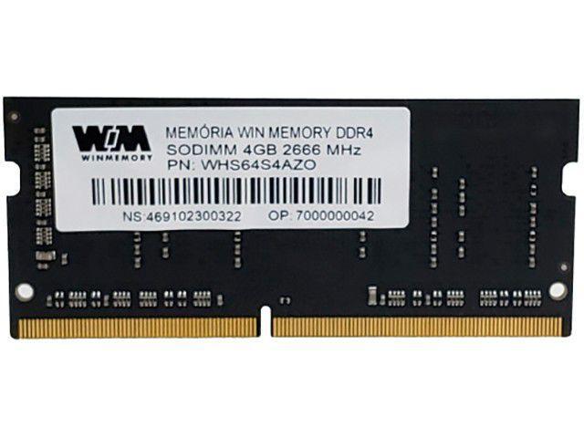 Memória RAM para Notebook 4GB DDR4 - WIN MEMORY WHS64S4AZD 2666Mhz