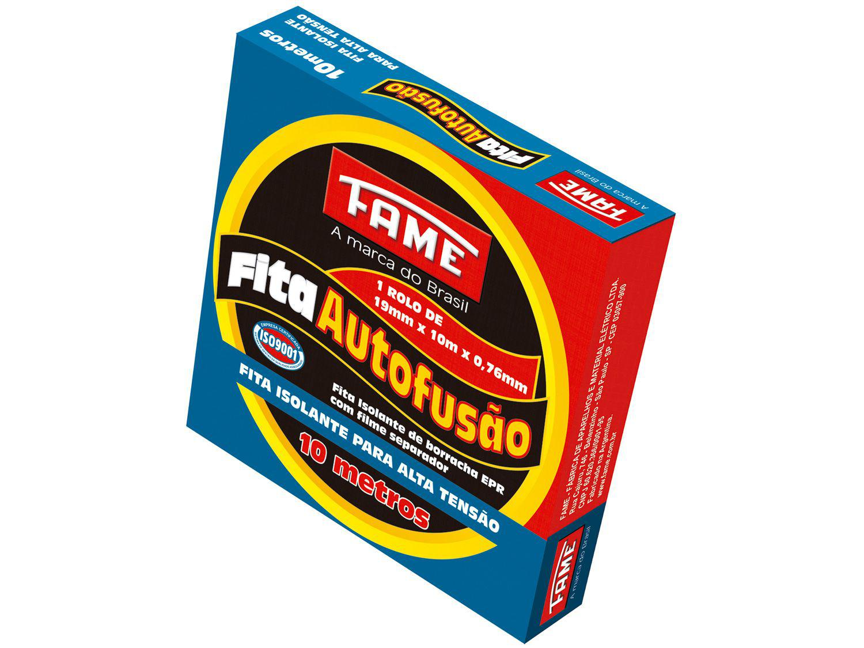 Fita Isolante Autofusão Fame 19mm x 10m x 0,76mm - Preta
