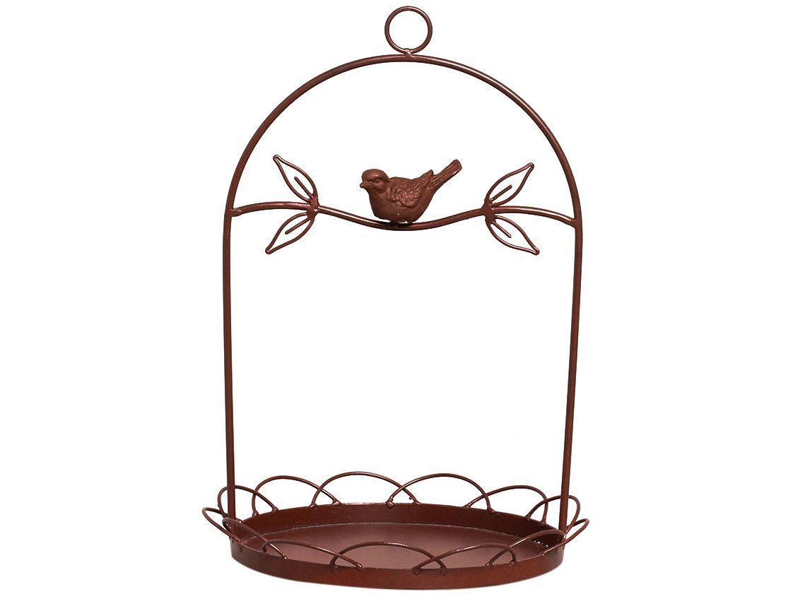 Comedouro Decorativo para Pássaros 23-834 - Shangai Marrom