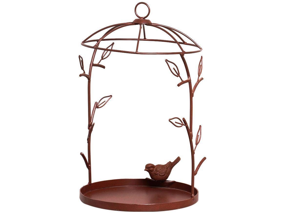 Comedouro Decorativo para Pássaros 23-837 - Shangai Marrom