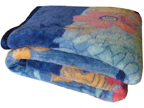 Cobertor Casal Jolitex Microfibra 100% Poliéster - Dyuri Amazonas Azul