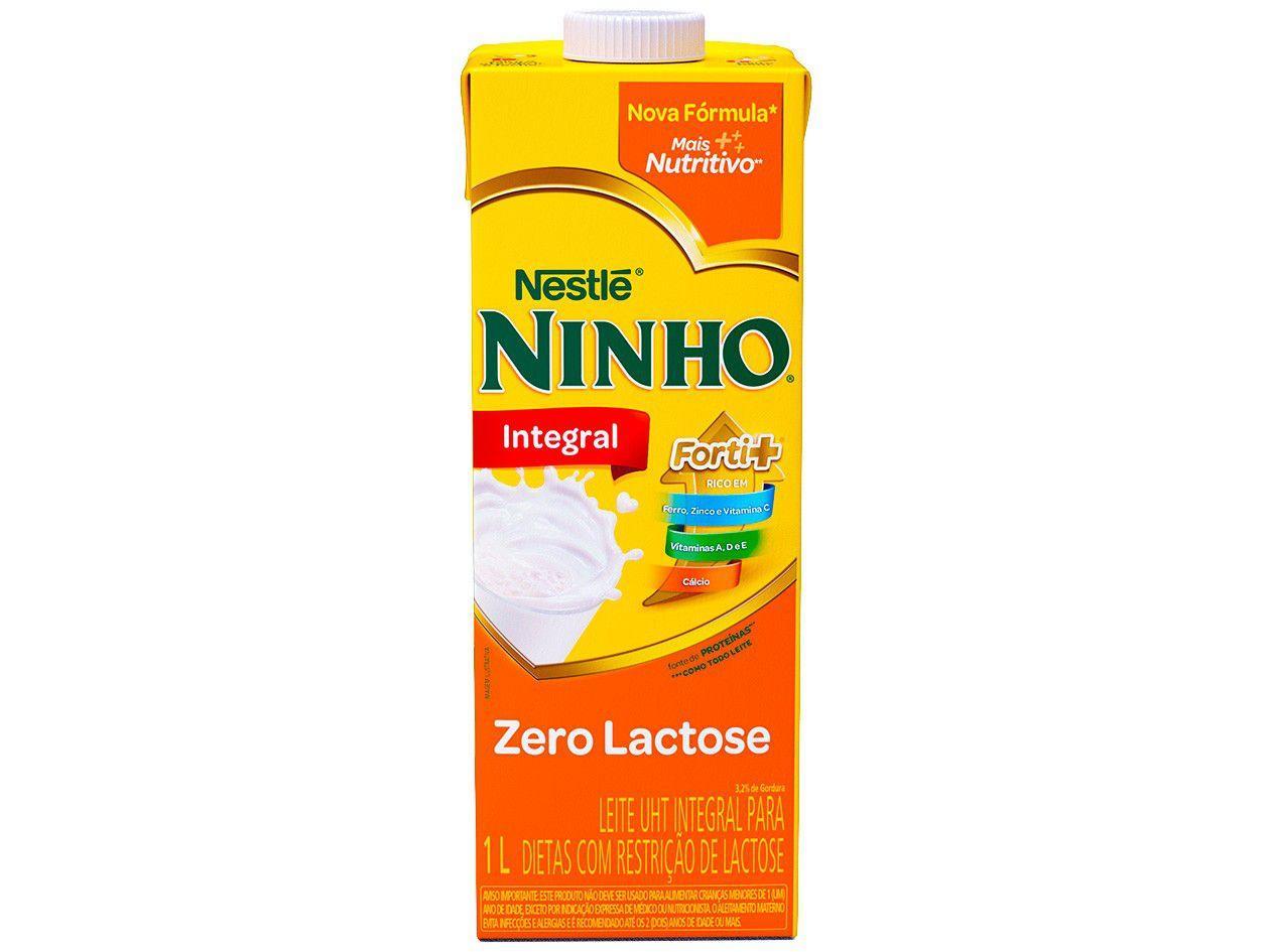 Leite Integral Zero Lactose UHT Ninho 1L