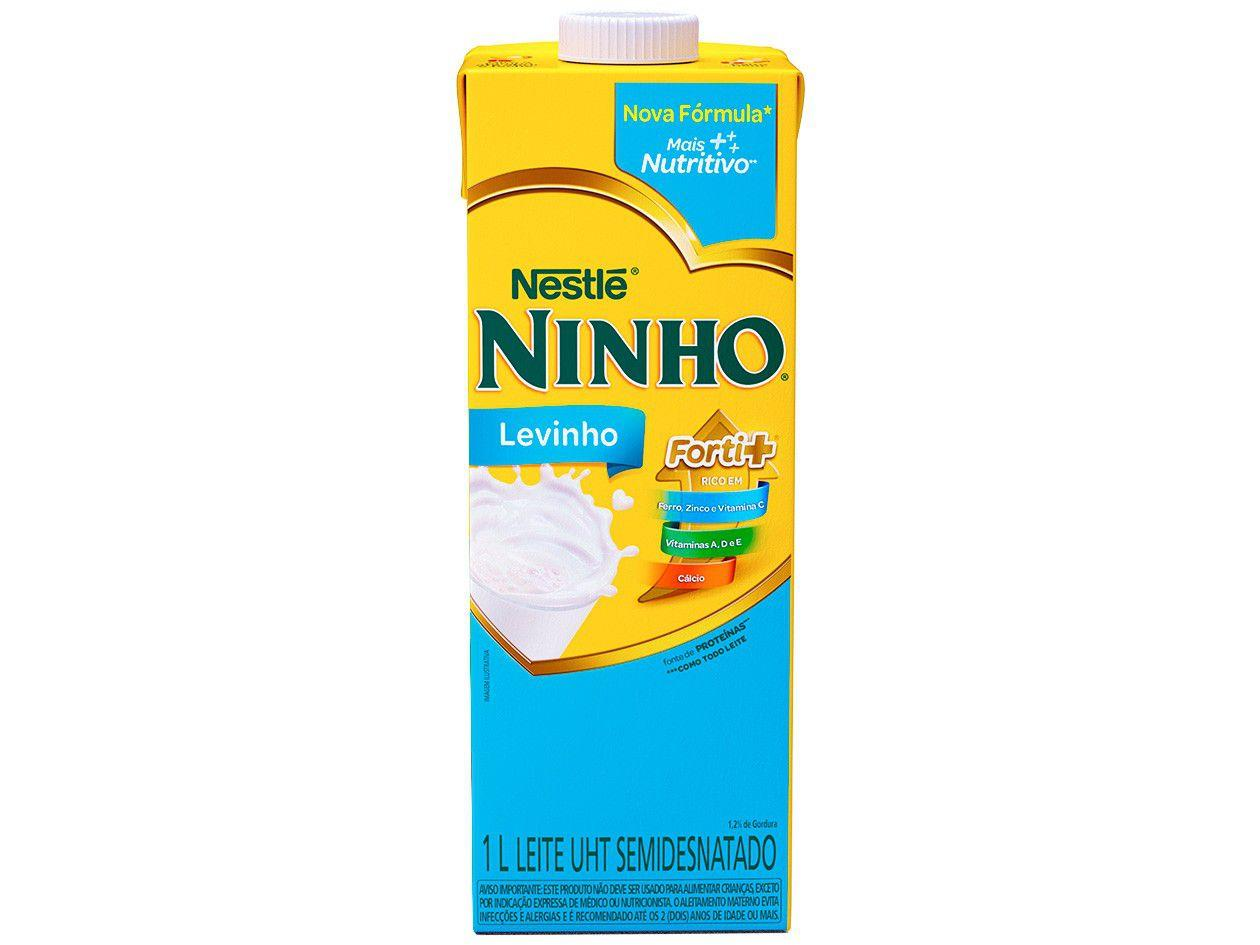 Leite Semidesnatado UHT Ninho Levinho 1L