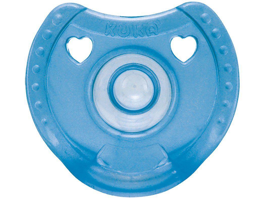 Chupeta Redondo Kuka Soft Comfort - Azul 6 Meses