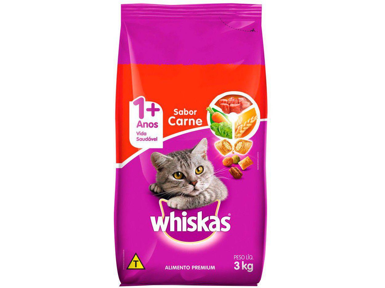 Ração Premium para Gato Whiskas Adulto - Carne 3kg