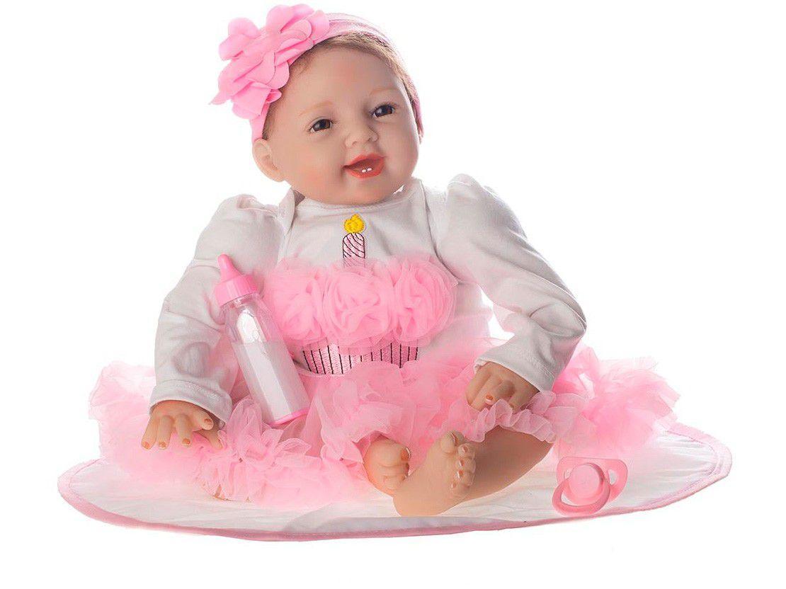 Bebê Reborn Enchanted Laura Baby 52cm - com Acessórios
