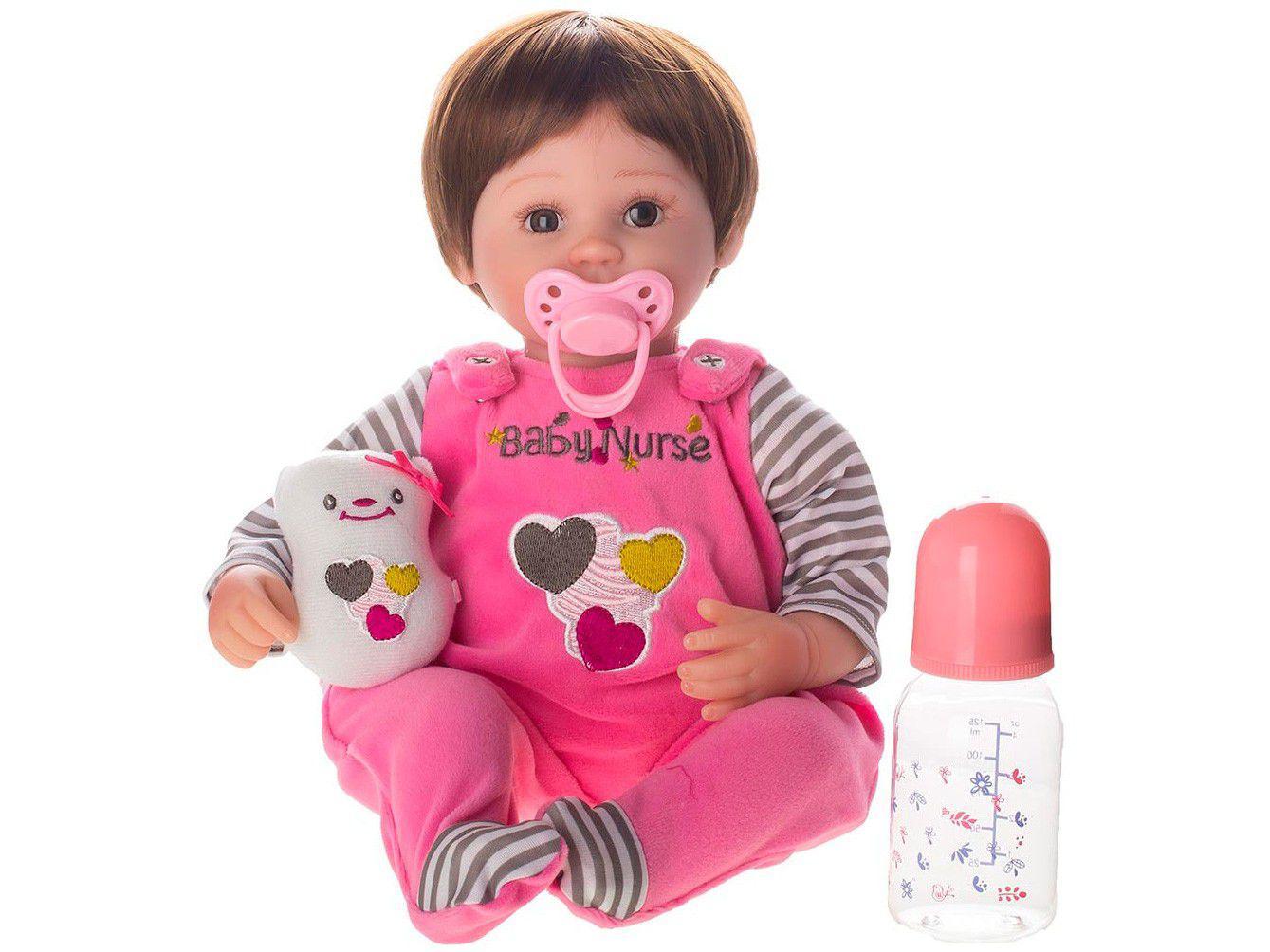 Bebê Reborn Nurse Laura Baby 40cm com Acessórios