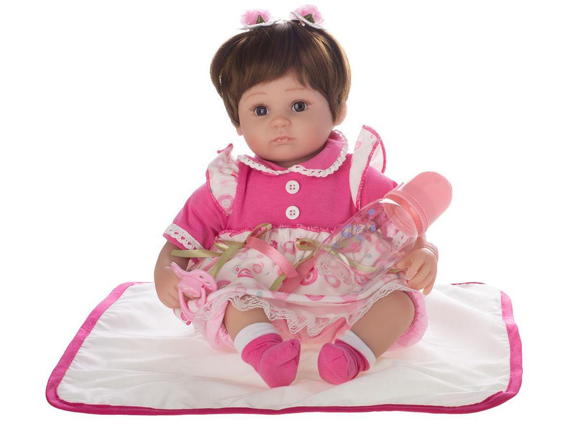 Bebê Reborn Charlotte Laura Baby 40cm - com Acessórios