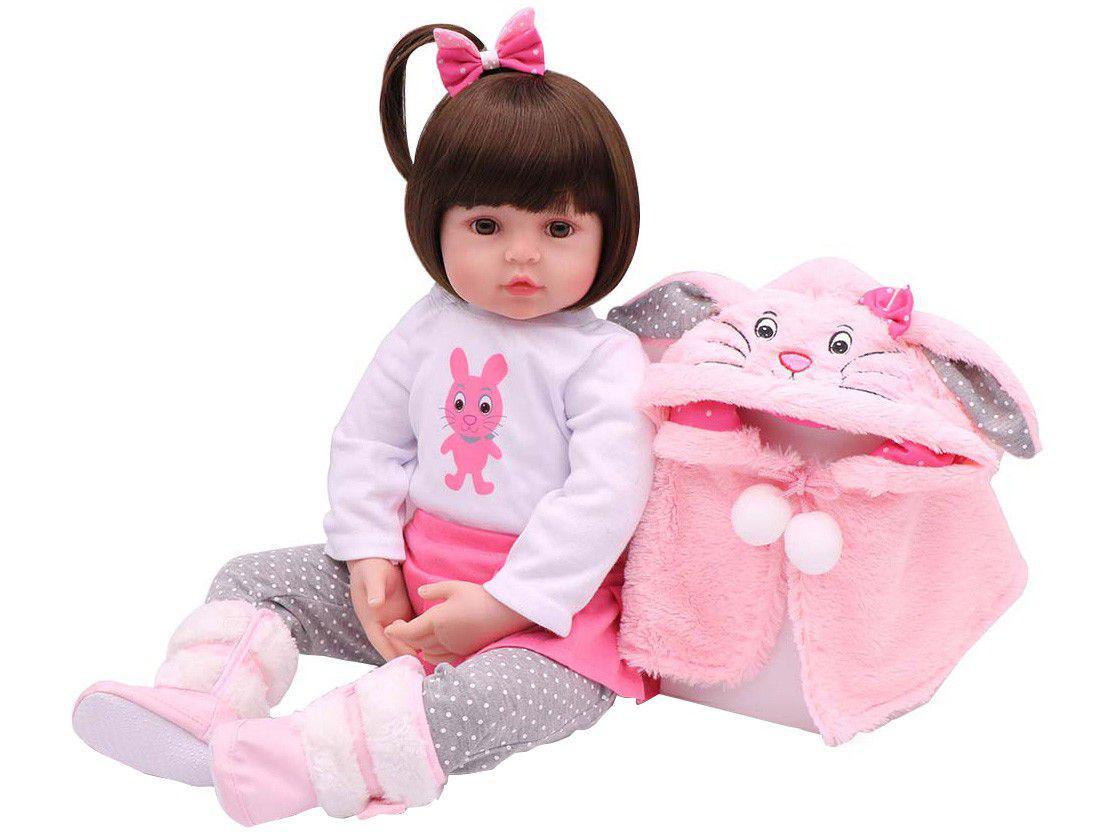 Bebê Reborn Sarinha Laura Baby 45cm com Acessórios