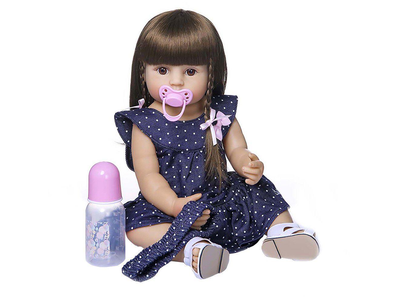 Bebê Reborn Princess Laura Baby 45cm - com Acessórios