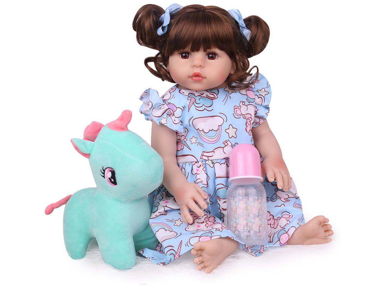 Bebê Reborn Cute Laura Baby 45cm - com Acessórios