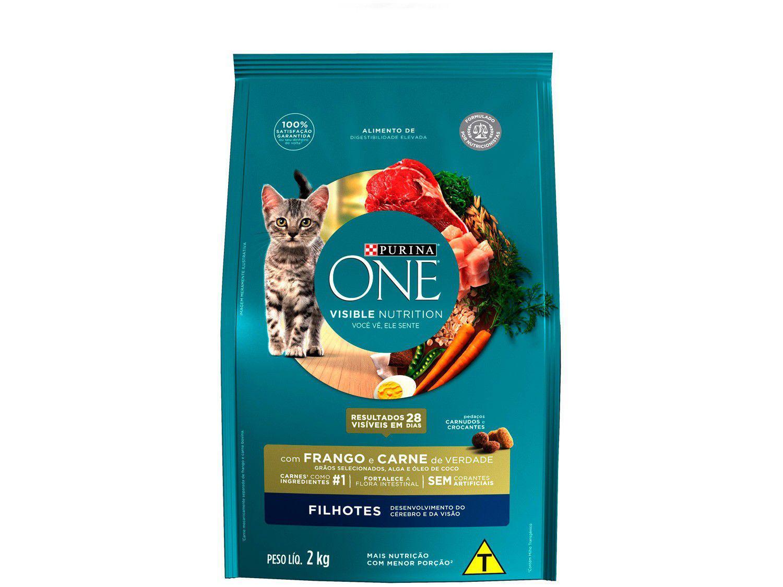 Ração Super Premium para Gato Purina One - Frango e Carne Filhote 2kg