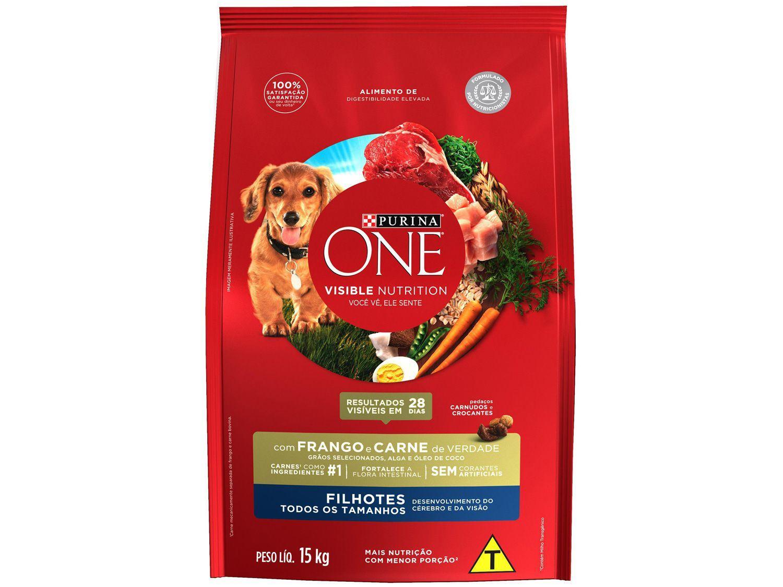 Ração Super Premium para Cachorro Purina One - Frango e Carne Filhote 15kg