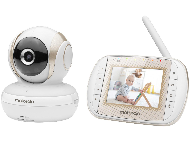 """Babá Eletrônica Motorola MBP30A Tela 3"""" - Comunicação Bidirecional Canções de Ninar"""