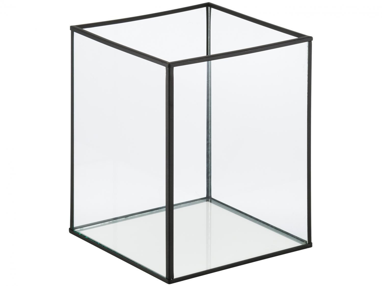 Lanterna Decorativa Vidro 16,5x20cm Inova - Metal Cubic