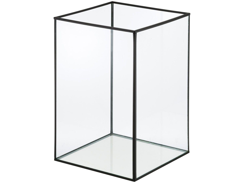 Lanterna Decorativa Vidro 19x28cm Inova - Metal Cubic