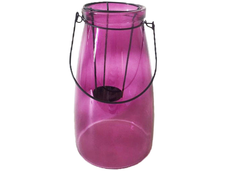 Lanterna Decorativa Vidro 15x26,5cm Inova Vitry