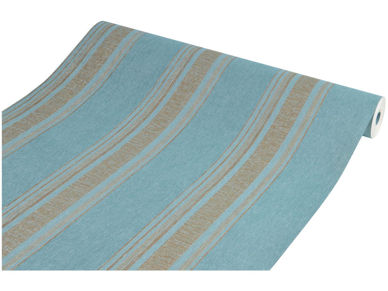 Papel de Parede Listrado Vinílico Evolux 53x1000cm