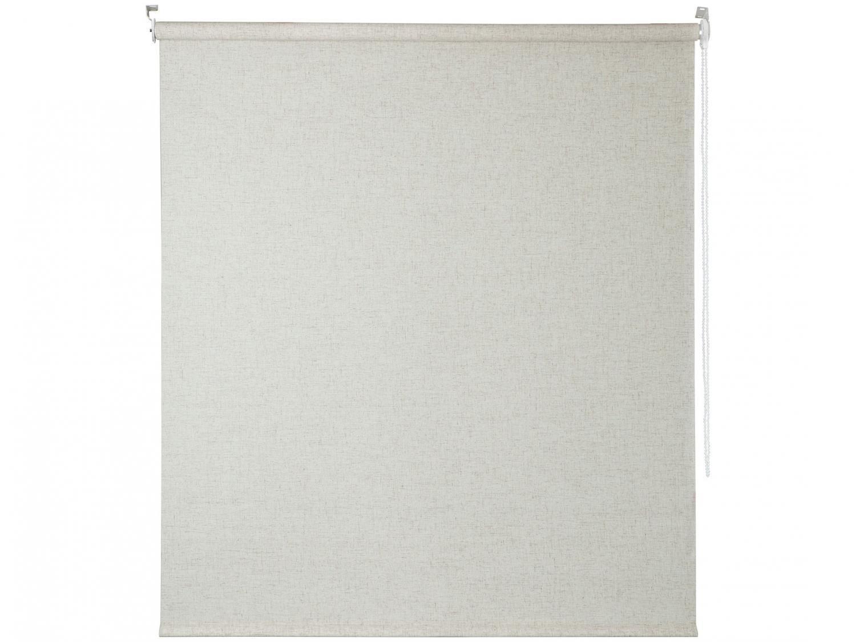 Persiana Rolô Tecido Bege 140x160cm - Evolux Soft Linho