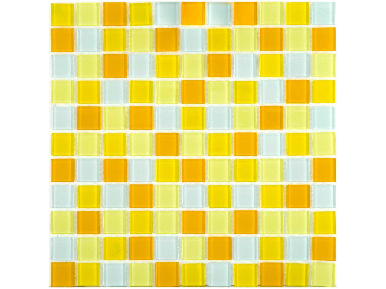 Pastilha de Vidro Mia Mosaic Mix 30x30cm - Amarela