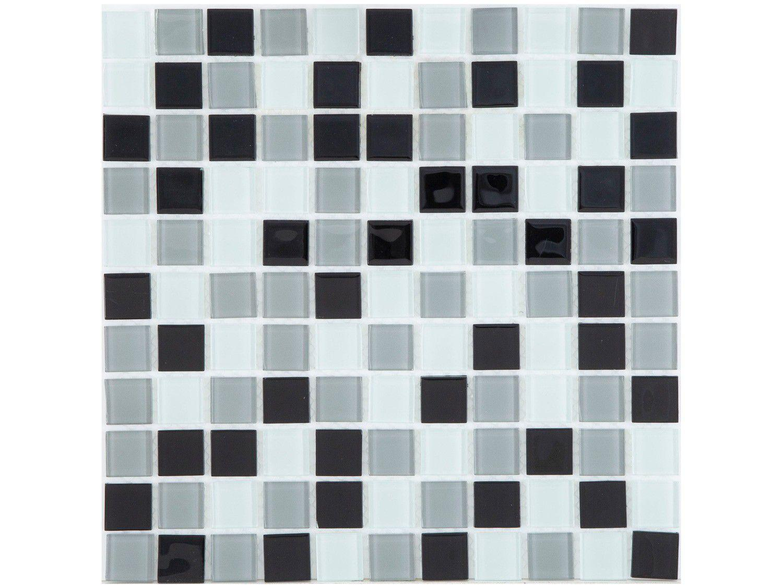 Pastilha de Vidro Mia Mosaic Mix 30x30cm - Cinza