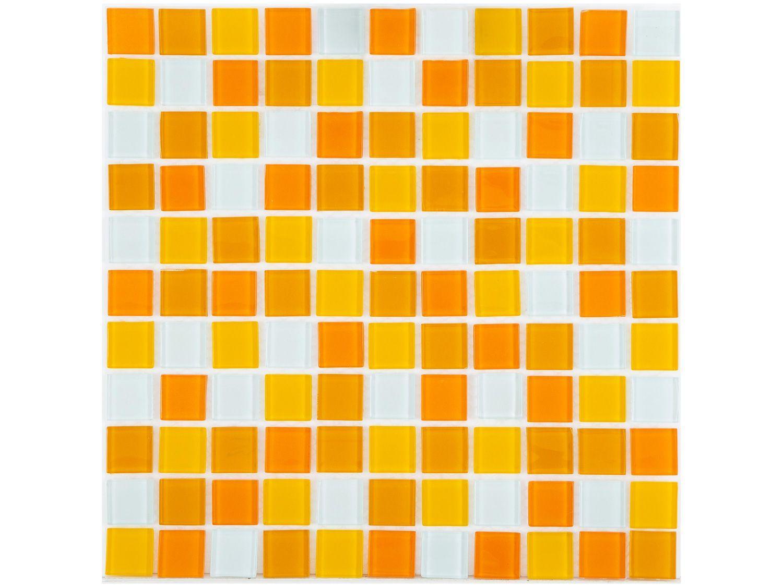 Pastilha de Vidro Mia Mosaic Mix 30x30cm - Laranja