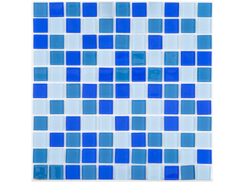 Pastilha de Vidro Mia Mosaic Mix 30x30cm - Azul Escura