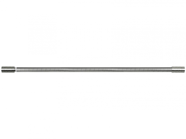 Varão de Cortina Extensível 1,20m a 2,10m 25/28mm - Evolux Ponteira Cilíndrica Cromado