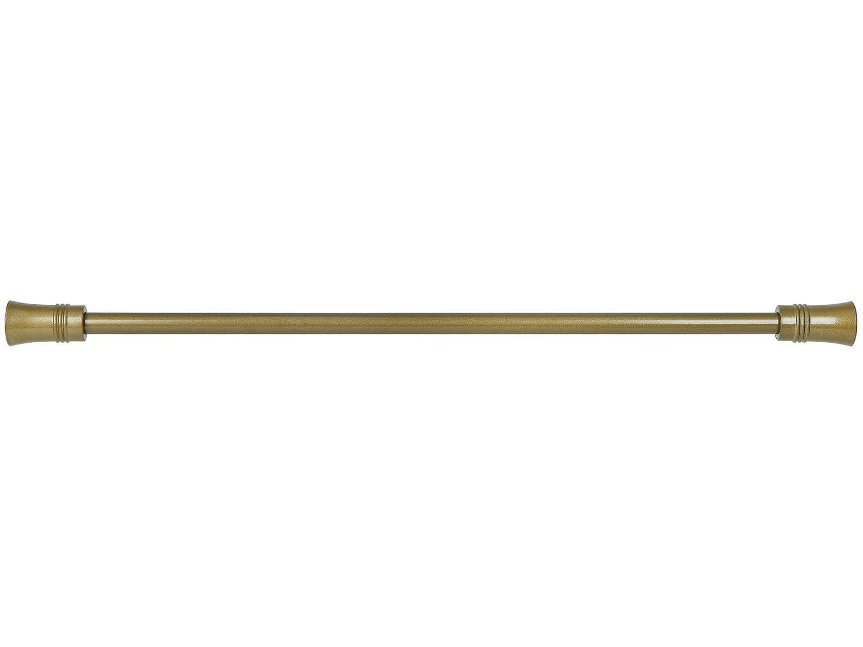 Varão de Cortina Extensível 1,20m a 2,10m 16/19mm - Evolux Ponteira Ellegance Ouro Velho