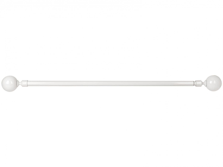 Varão de Cortina Extensível 1,60m a 3m 25/28mm - Evolux Ponteira Bola Branco