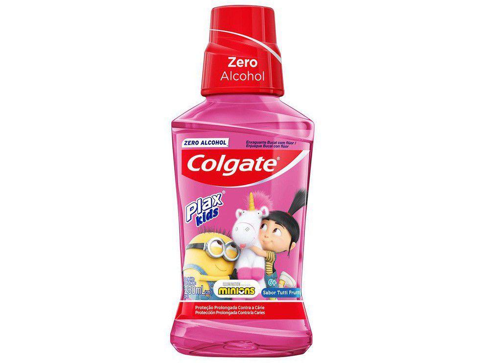 Enxaguante Bucal Infantil Colgate sem Álcool - Plax Kids Minions 250ml
