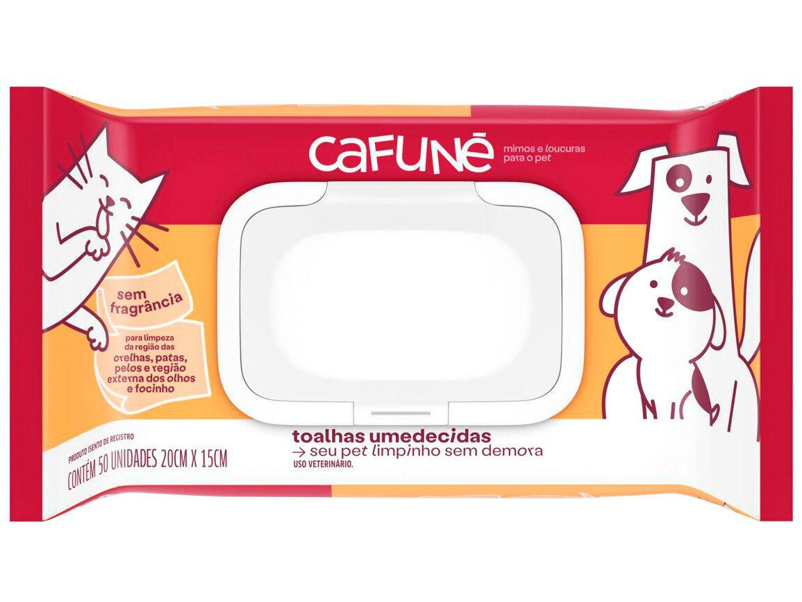 Lenço Umedecido para Pets Cafuné Sem Fragrância - 50 Unidades