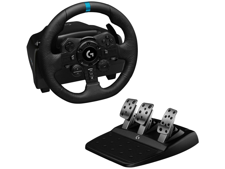 Volante Gamer PS4 PS5 PC Logitech G - TRUEFORCE G923 com Pedal