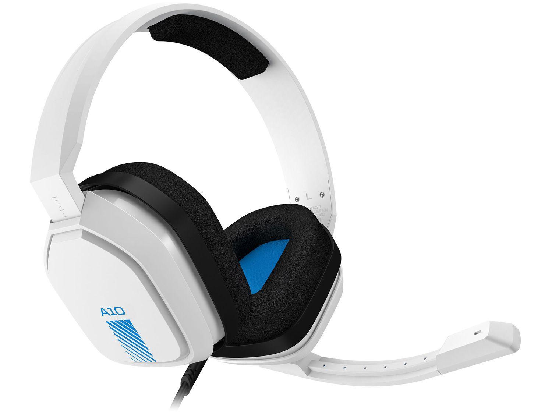 Headset Gamer Astro A10 PS4 Xbox One PC MAC - Nintendo Switch 2.0 Branco e Azul