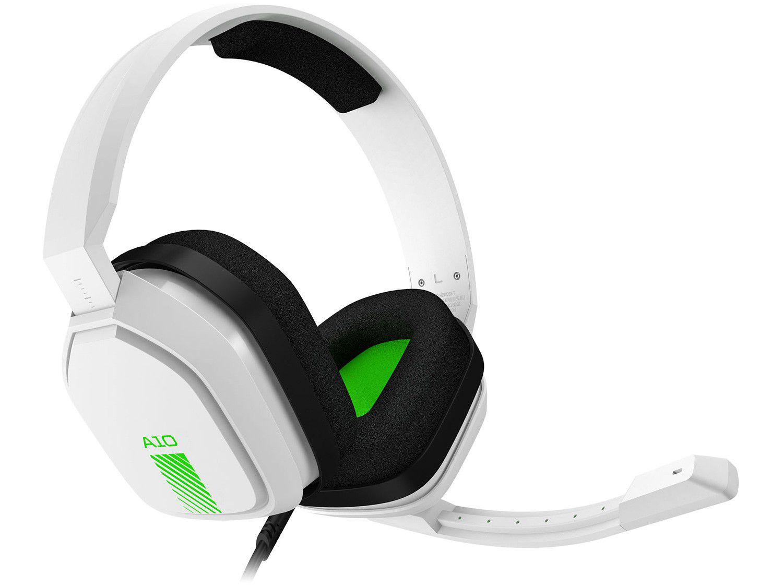 Headset Gamer Astro A10 PS4 Xbox One PC MAC - Nintendo Switch 2.0 Branco e Verde
