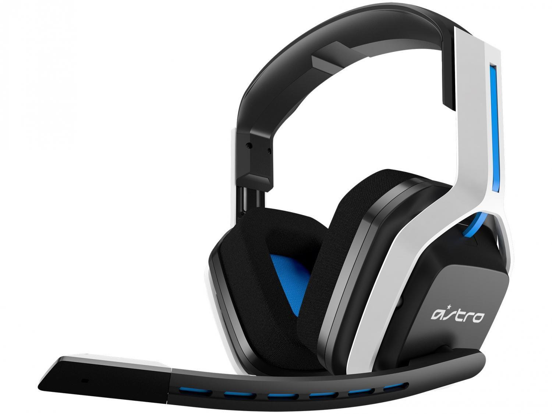 Headset Gamer Astro A20 PS5 PS4 PC Mac - Sem Fio Transmissor USB Branco e Azul