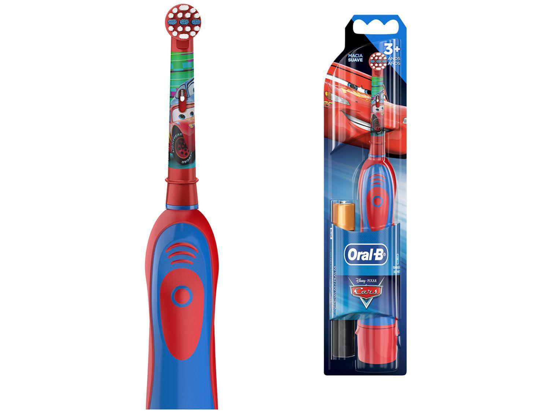 Escova de Dente Infantil Elétrica Oral-B - Disney Pixar Cars com 2 Pilhas AA
