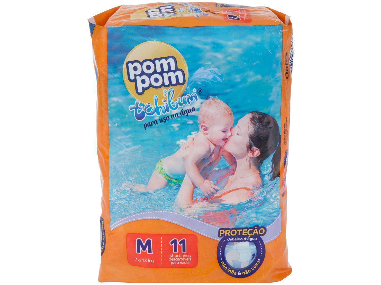 Fralda Pom Pom Tchibum Calça Tam. M - 7 a 13kg 11 Unidades