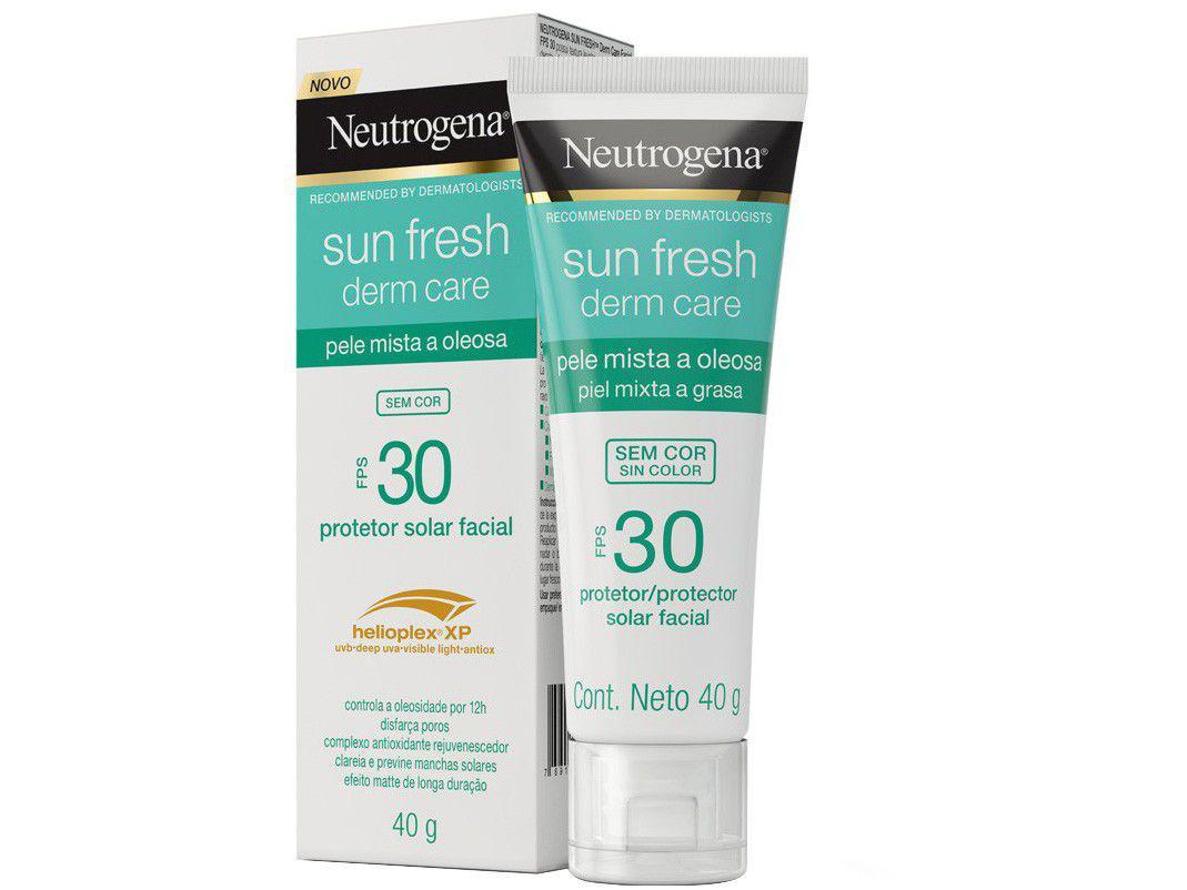 Protetor Solar Facial Neutrogena FPS 30 Derm Care - Sun Fresh Sem Cor 40g