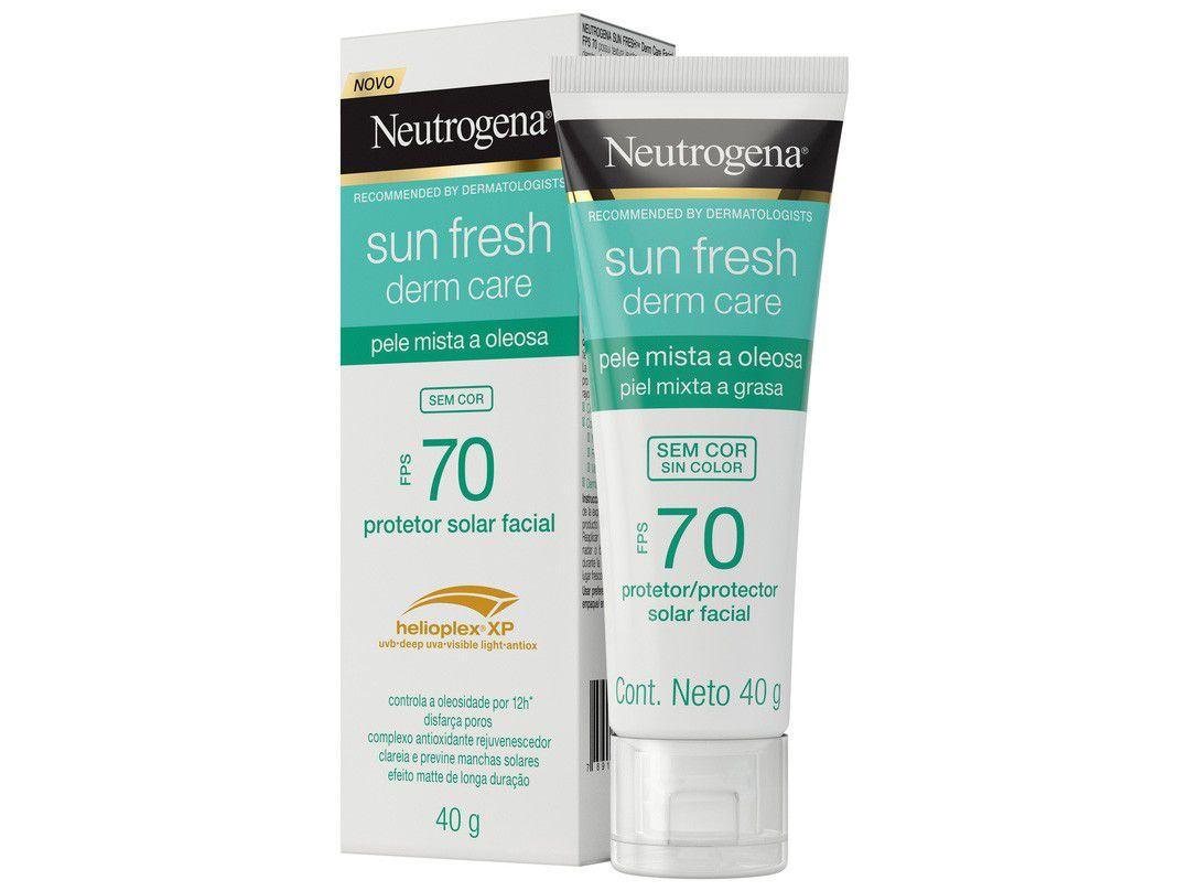 Protetor Solar Facial Neutrogena FPS 70 Derm Care - Sun Fresh Sem Cor 40g
