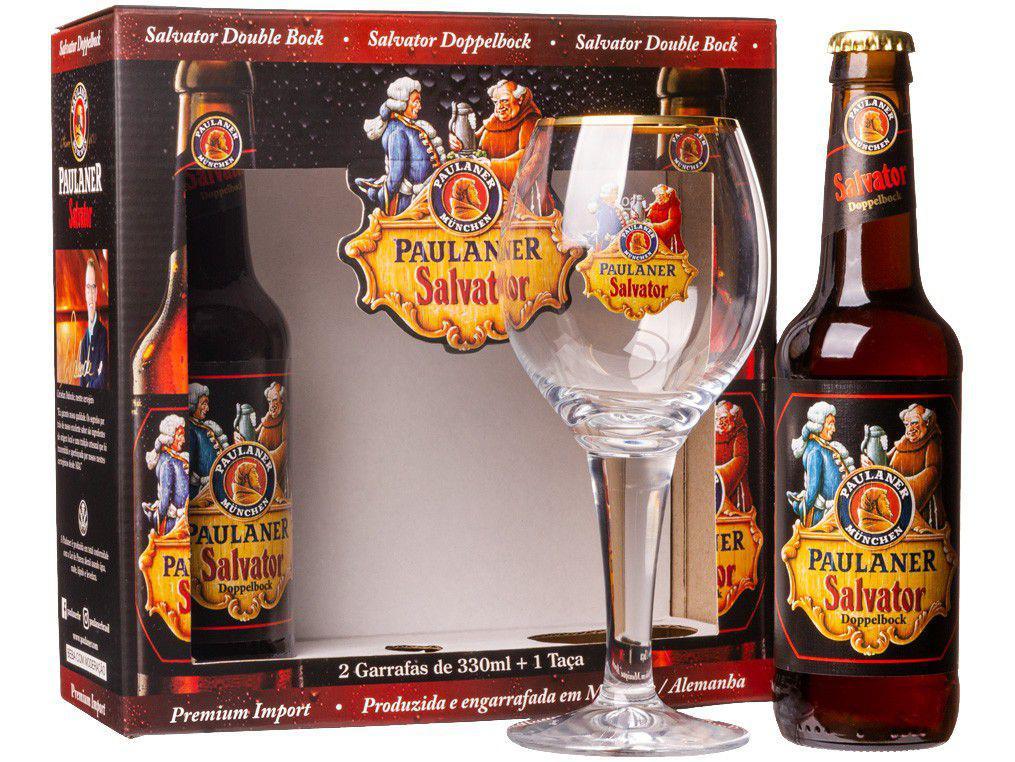 Cerveja Paulaner Salvator Doppelbock Lager - 2 Unidades 330ml com 1 Taça