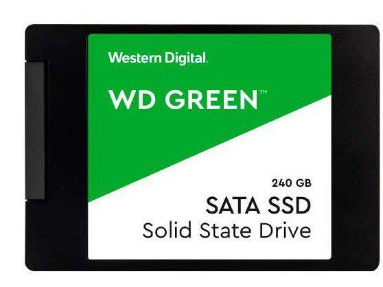 "SSD 240GB Western Digital SATA 2,5"" - Leitura 540MB/s e Gravação 430MB/s Green"