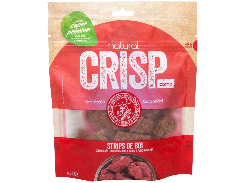 Petisco para Cachorro Adulto Natural Crisp - Strips de Boi Carne 100g